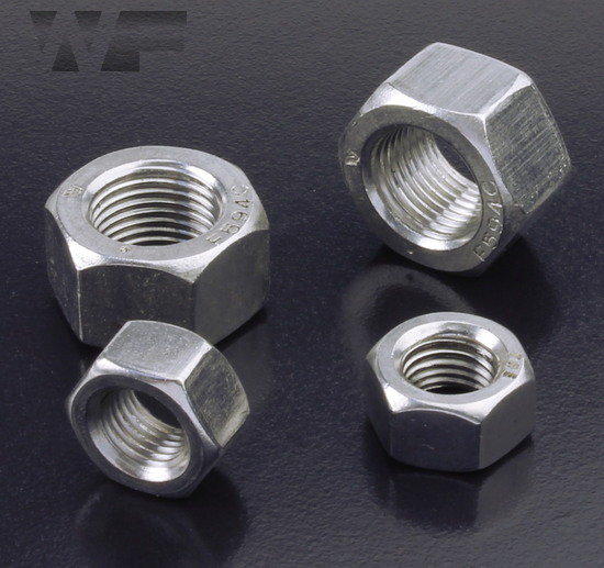 UNF Full Hex Nuts ASME B18.6.3 in A2 image
