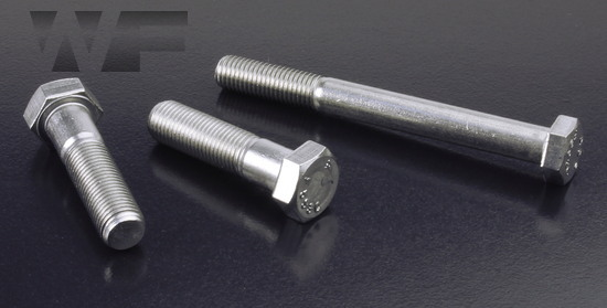 Image of UNF Hex Head Bolts ASME B18. 2.1 in A2 image