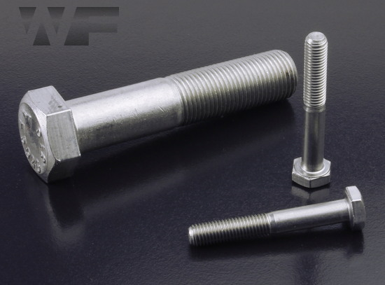 Image of UNF Hex Head Bolts ASME B18. 2.1 in A4 image