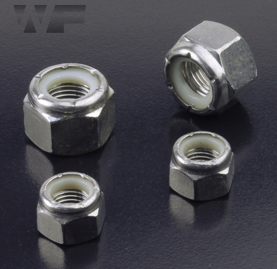 UNF Nylon Insert Hex Nuts IFI-100/107 in A4 image