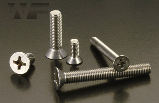 Image of UNF Phillips Csk Machine Screws ASME B18. 6.3 in A2 image