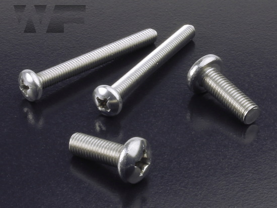 Image of UNF Phillips Pan Head Machine Screws ASME B18. 6.3 in A2 image
