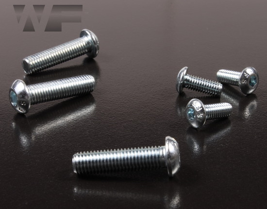 Image of UNF Socket Head Button Screws ASME B18. 3-2003 in BZP image